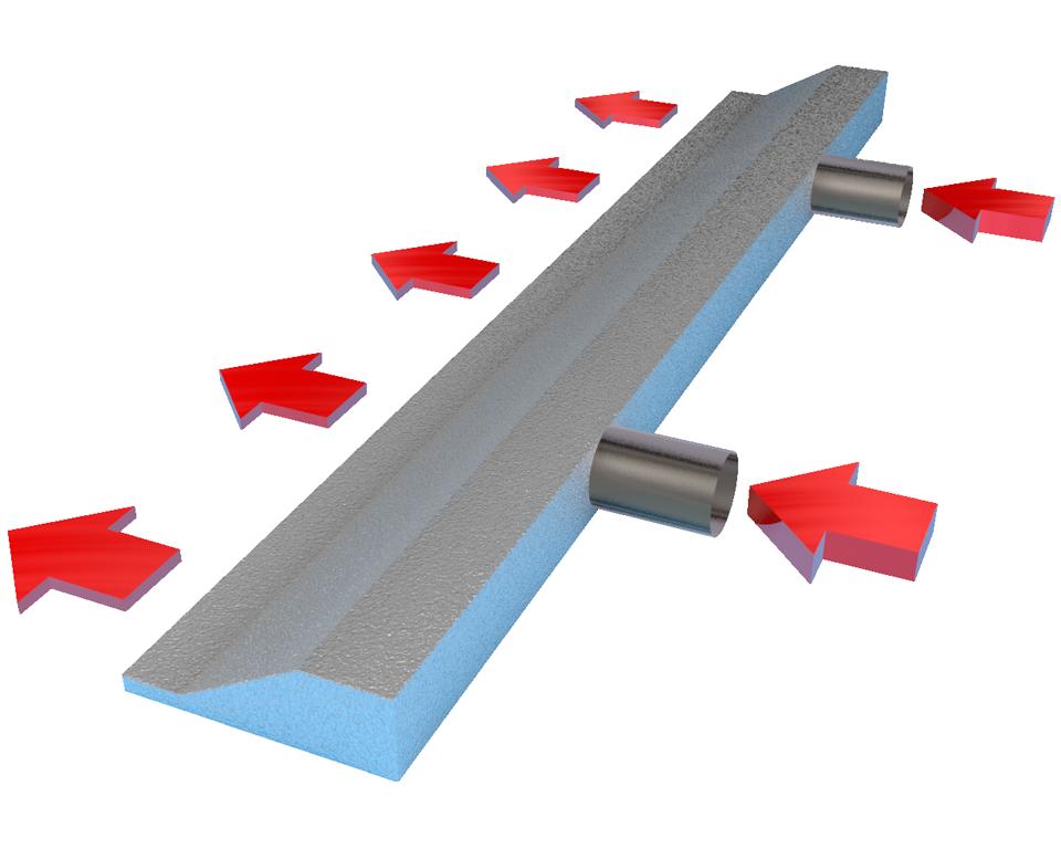 Progettazione tridimensionale di un plenum per flusso laminare