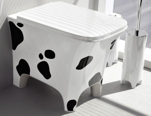 Vaso a pavimento serie Cow
